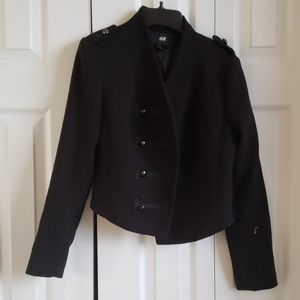 H&M Black Blazer . Trench Peacoat